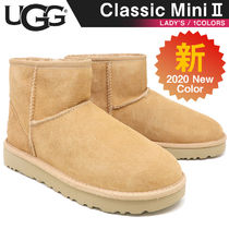 UGG Australia CLASSIC MINI Rubber Sole Fur Ankle & Booties Boots