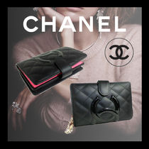 CHANEL CAMBON Calfskin Folding Wallet Bridal Folding Wallets