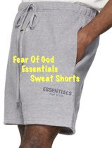 FEAR OF GOD ESSENTIALS Unisex Street Style Cotton Oversized Shorts