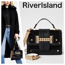 River Island Casual Style Faux Fur 2WAY Satchels