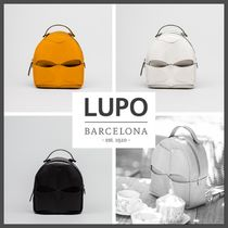 Lupo Barcelona Casual Style Leather Backpacks