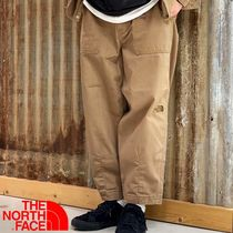 THE NORTH FACE Unisex Plain Cotton Oversized Cropped Pants