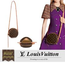 Louis Vuitton MONOGRAM Monogram Casual Style Calfskin Leather Party Style