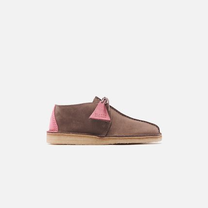 Suede Street Style Bi-color Plain Logo Sneakers