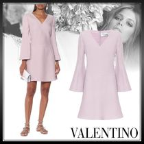VALENTINO Short Wool Silk Long Sleeves Plain Medium Party Style