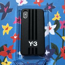 Y-3 Stripes Unisex Street Style Leather iPhone 8 iPhone X