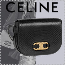 CELINE Triomphe Casual Style Lambskin 2WAY Leather Party Style Office Style