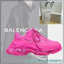 BALENCIAGA Triple S Platform Rubber Sole Lace-up Casual Style Unisex