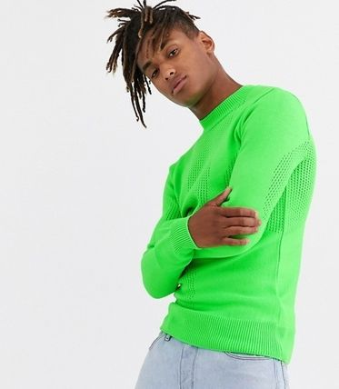 Pullovers Long Sleeves Plain Sweaters