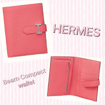 HERMES Bearn Plain Folding Wallet Long Wallet  Bridal Folding Wallets