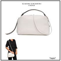 GIANNI CHIARINI Casual Style 3WAY Plain Leather Party Style Elegant Style