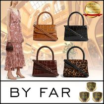 by FAR Leopard Patterns Casual Style Street Style 2WAY Plain