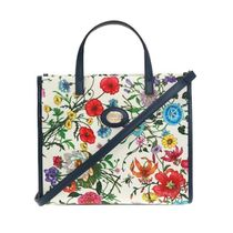 GUCCI Gucci Ghost Flower Patterns Casual Style Canvas Blended Fabrics 2WAY