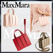 MaxMara Casual Style Leather Party Style Elegant Style Handbags