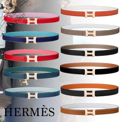 HERMES CONSTANCE Casual Style Plain Leather Office Style Elegant Style