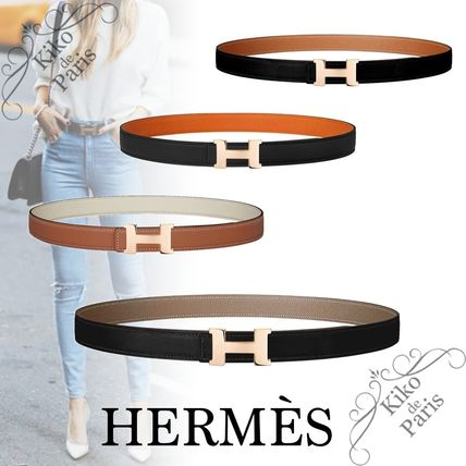 HERMES CONSTANCE Formal Style  Casual Style Plain Leather Office Style