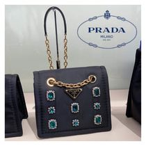 PRADA Nylon Chain Plain Party Style Home Party Ideas With Jewels