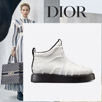 Christian Dior Rubber Sole Leather Ankle & Booties Boots