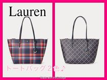 LAUREN RALPH LAUREN Casual Style A4 Office Style Elegant Style Totes