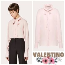VALENTINO Casual Style Long Sleeves Plain Medium Party Style