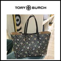 Tory Burch KERRINGTON Flower Patterns Casual Style A4 Office Style Totes