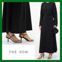 The Row Casual Style Plain Leather Pin Heels Elegant Style