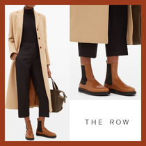The Row Casual Style Plain Leather Chelsea Boots Elegant Style