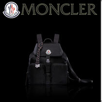 MONCLER Casual Style Nylon Plain Leather Backpacks