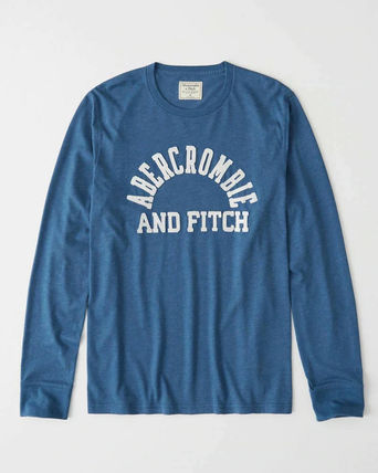 Abercrombie & Fitch Long Sleeve Crew Neck Long Sleeves Cotton Logos on the Sleeves
