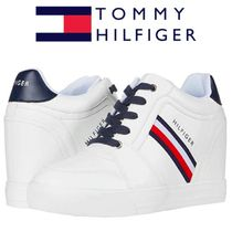 Tommy Hilfiger Gingham Stripes Platform Round Toe Casual Style Street Style
