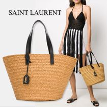 Saint Laurent Straw Bags