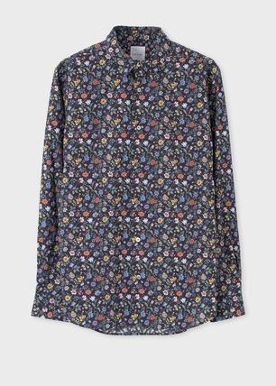 Paul Smith Flower Patterns Long Sleeves Cotton Shirts