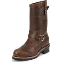 CHIPPEWA Plain Leather Engineer Boots