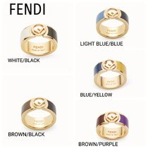 FENDI Casual Style Unisex Brass Rings