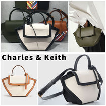 Charles&Keith Casual Style Canvas Faux Fur 2WAY Bi-color Plain