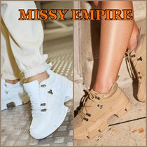 MISSY EMPIRE Platform Round Toe Rubber Sole Lace-up Casual Style