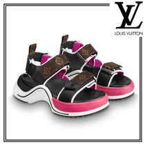 Louis Vuitton Monogram Open Toe Platform Casual Style Sport Sandals