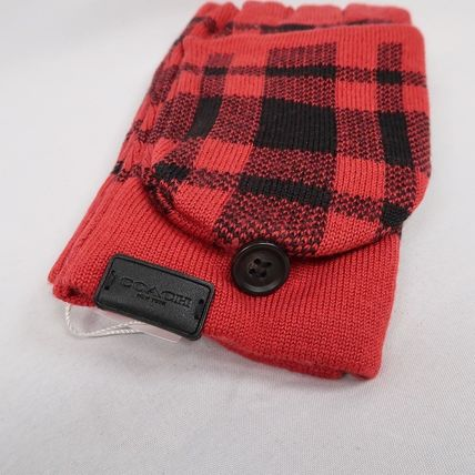 Coach Other Plaid Patterns Touchscreen Gloves