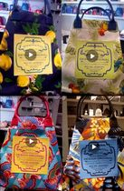 gilsonmartins Flower Patterns Tropical Patterns Casual Style A4 Totes