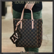 Louis Vuitton DAMIER Other Plaid Patterns Casual Style Unisex Calfskin Canvas