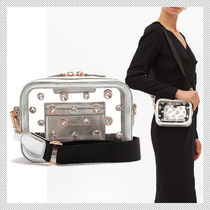 SOPHIA WEBSTER Casual Style Studded Party Style Crystal Clear Bags