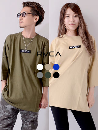RVCA More T-Shirts Unisex Street Style Cotton Short Sleeves Logo T-Shirts