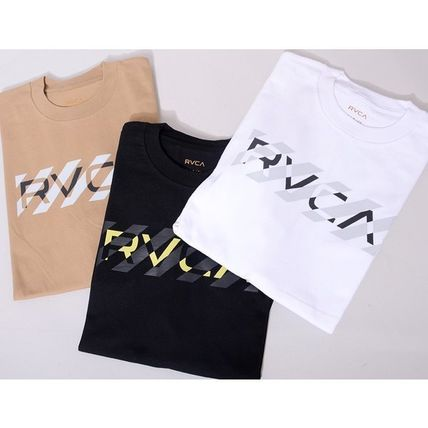 RVCA More T-Shirts Unisex Street Style Cotton Short Sleeves Logo T-Shirts 8
