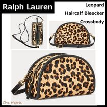 Ralph Lauren Leopard Patterns Casual Style Blended Fabrics Leather