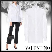 VALENTINO Casual Style Long Sleeves Plain Cotton Medium Office Style