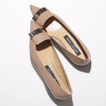 Sergio Rossi Leather Logo Ballet Shoes