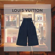 Louis Vuitton Casual Style Plain Cotton Long Culottes