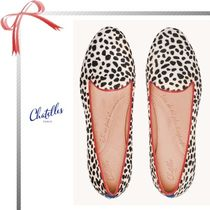 Chatelles Round Toe Casual Style Other Animal Patterns Flats