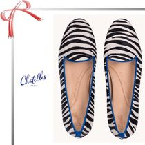 Chatelles Zebra Patterns Round Toe Casual Style Flats