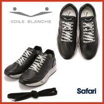 VOILE BLANCHE Street Style Collaboration Plain Leather Sneakers